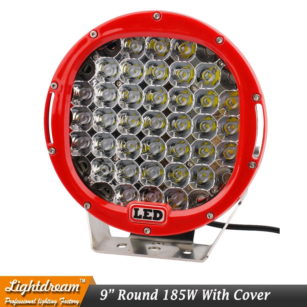 9inch 185W Round 37Leds 4x4 Offroad Light 12V Առաջնորդված - Ավտոմեքենայի լույսեր - Լուսանկար 3