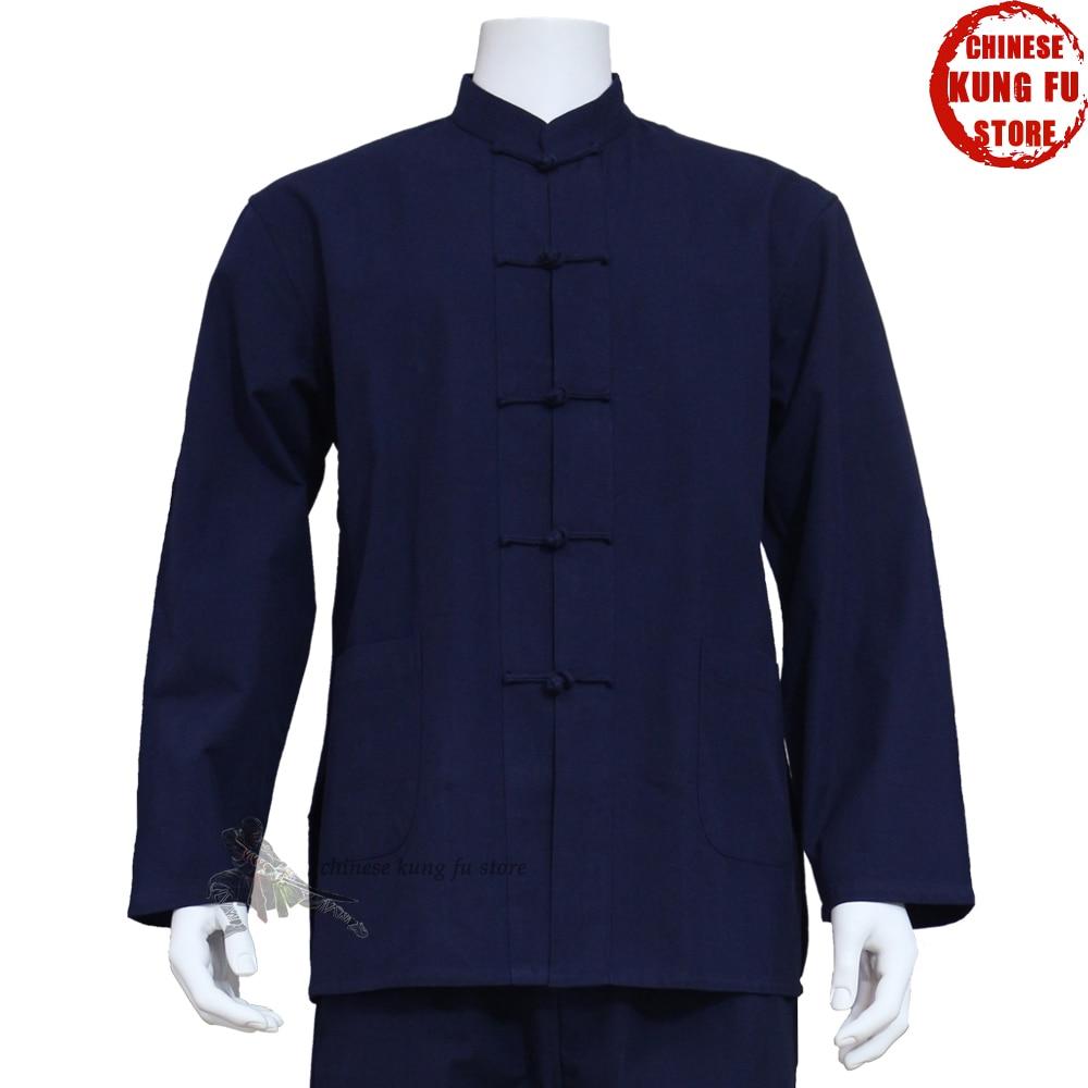 100% хлопок кунг-фу куртка Тай Чи Униформа боевые искусства крыло костюм для вин-Чунь шаолин gongfu одежда