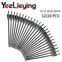 High Quality 12 24pcs16 17 18 20 22 Inch Carbon Black Arrow Black And White TPU