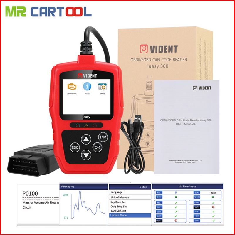 iEasy300 EOBD/OBD2 Scanner Automotive Diagnostic Scan Tool escaner automotriz Code Reader Trouble Codes scanner automotivo пылесос kitfort кт 520 кт 520