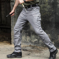 New Mens Quality Multi Pockets Tactical Pants Loose Military Tactical Trousers Military Cargo Pants 3 Colors