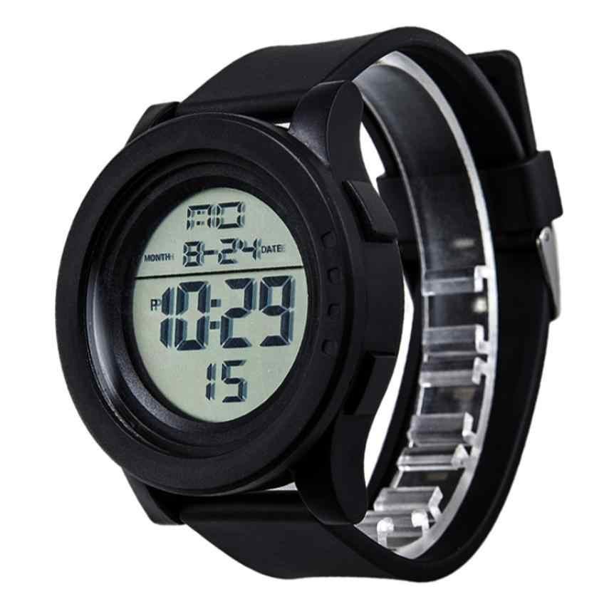 Reloj electrónico HONHX reloj inteligente hombres mujeres moda LED Digital pantalla táctil día Fecha de silicona Wriswatch