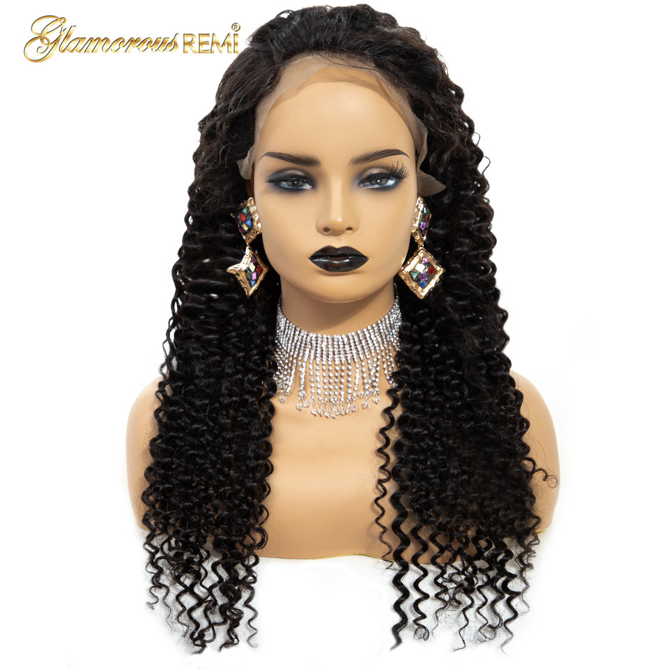 Hair Extensions & Wigs #1b Kinky Curly Lace Frontal Human Hair Wig Natural Color For Women Remy Hair Wigs Pre Plucked Bleached Knots Free Shipping Orders Are Welcome. Lace Wigs