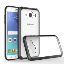 For Samsung Galaxy J7 2015 J700 J700F Transparent TPU/PC Case Scratch Resistant Coating Shockproof Cover Air Cushion Phone Bag