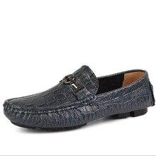 2016 Hot Sale font b Men b font Casual Genuine Leather Slip on Loafers font b