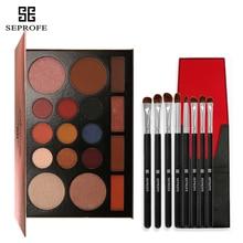 17 Color Glitter Eyeshadow pallete Matte Shimmer Make up palette Eye shadow Rose Gold EyeShadow With 8 eye brush