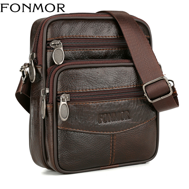 Mini Bags Genuine Leather Messenger Bags For Men Vintage Small Mobile Cell Phone Case Crossbody Bag Male Belt Pack Wholesale