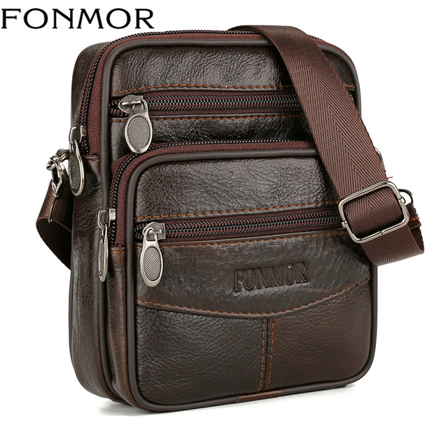 ad8babf1a38 Mini Bags Genuine Leather Messenger Bags For Men Vintage Small Mobile Cell  Phone Case Crossbody Bag Male Belt Pack Wholesale