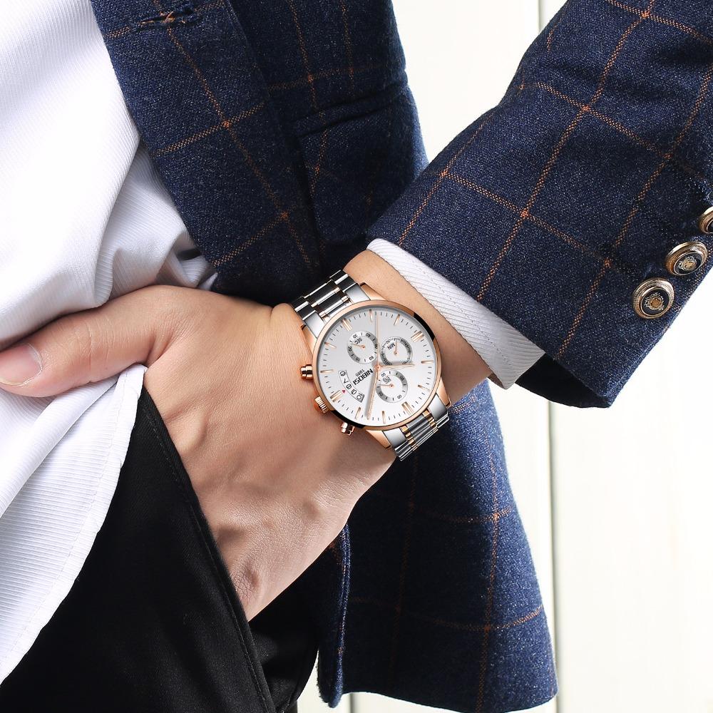 Relojes de hombre NIBOSI Relogio Masculino, relojes de pulsera de cuarzo de estilo informal de marca famosa de lujo para hombre, relojes de pulsera Saat 22