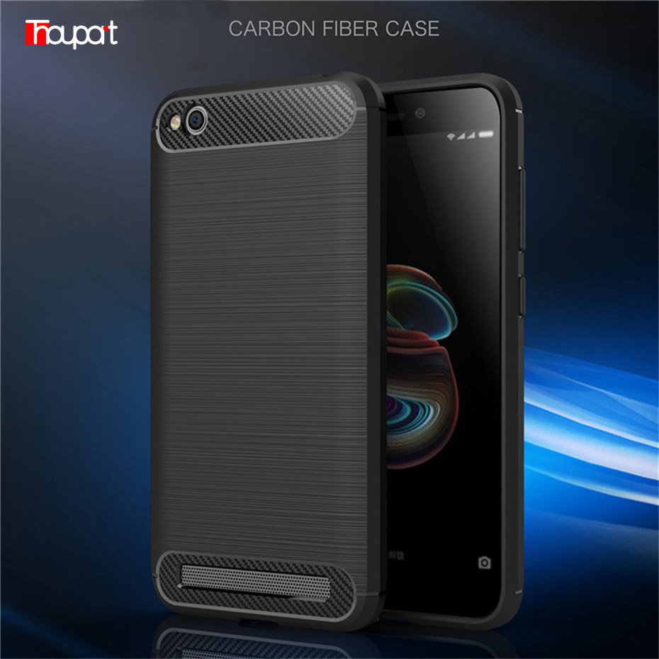 Thouport For Xiaomi Redmi 5A Case Silicone Shell Protective Carbon Fiber ShockProof TPU Phone Case For Xiaomi Redmi 5A Cover joint phone case