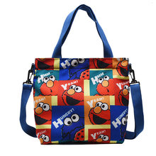 New Sesame Street Canvas Bag Versatile Letter Messenger Bag Ladies Zipper Small Square Bag Canvas High Capacity Handbags(China)