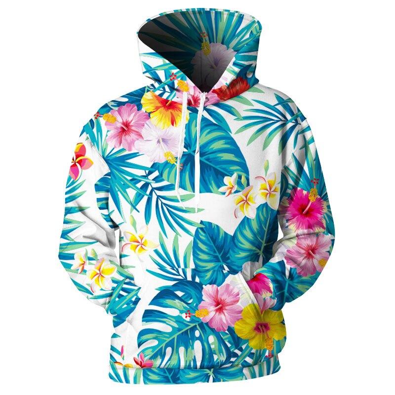 Cloudstyle Floral con capucha propio diseño hombres mujeres sudadera 3d imprimir flor Palma Hoodie Hip Hop Casual sudaderas con capucha Otoño/Invierno hoody