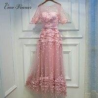 C V 2017 Women Long Floor Length Pink Evening Dress Autumn And Winter Long Design Banquet