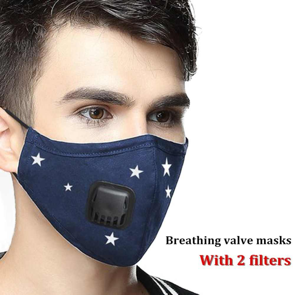 N95 Washable 5 Dust Anti Air 5 Respirator Masks Mouth Filter Pollution Cotton Pm2 Mask Replaceable With Layers