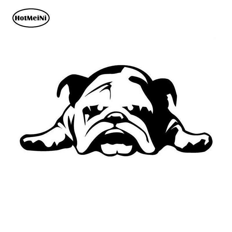 HotMeiNi 11*23 cm Car Stickers ENGLISH BULLDOG TIRED PUPPY DOG pattern car window car body decal Black/Silver etc 13 color