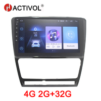 HACTIVOL 2G+32G Android 8.1 Car Radio for SKODA OCTAVIA 2010 2013 car dvd player gps navi car accessory 4G multimedia player