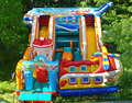 (China Guangzhou) manufacturers selling inflatable slides, inflatable castles,Aircraft castle  CB-09