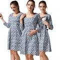 MamaLove grávidas Vestidos de Maternidade Roupa de Maternidade de Enfermagem Vestido roupas de gravidez para As Mulheres Grávidas Que Amamentam vestidos