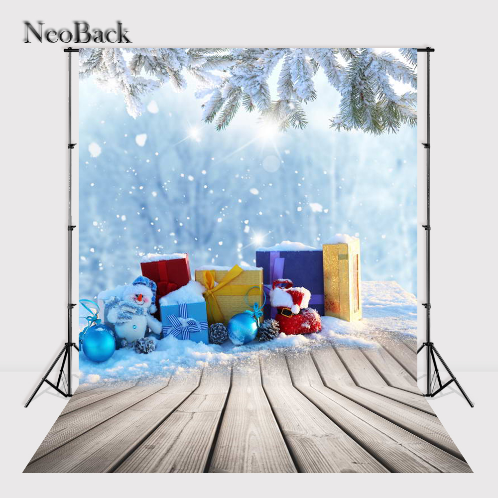 NeoBack 5x7ft Vinyl Newborn Baby Christmas Party Photographic Background Children Kids Holiday Scene Studio Photo Backdrop P1140