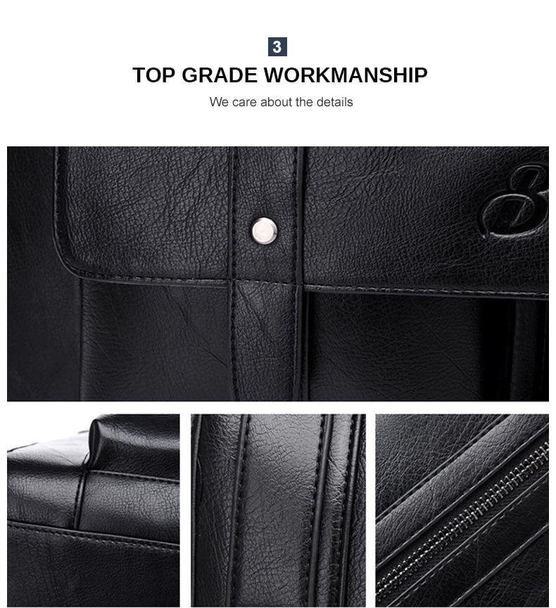 HTB16s 2JZfpK1RjSZFOq6y6nFXa3 Men Leather Black Briefcase Business Handbag Messenger Bags Male Vintage Shoulder Bag Men's Large Laptop Travel Bags Hot XA177ZC