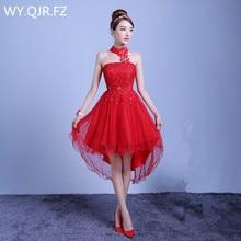 Vestido de verano corto para dama de honor, ZX D48ZS, rojo, morado