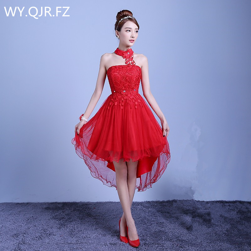 ZX-D48ZS#2019 New Summer Short Long Before After Shortparagraph A Bride Bridesmaid Dresses Wedding Dress Female Toast Red Purple