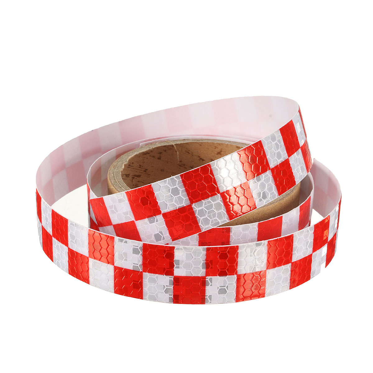 25mm x 1m High Intensity Reflective Vinyl Roll Chequer Safety Warning Signal Tape
