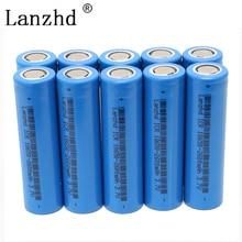 Li-ion Batteries for samsung 18650 3.7v Li ion Rechargeable Battery lithium Led Flashlight (10PCS)