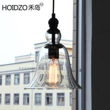 Vintage 1 luz Edison Loft Industrial campana techo lámpara de techo accesorio Café Bar tienda Club Hall cabecera