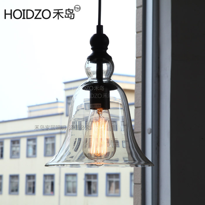 все цены на Vintage 1 Light Edison Loft Industrial Bell Glass Ceiling Pendent Lamp Fixture Cafe Bar Coffee Shop Store Club Hall Bedside