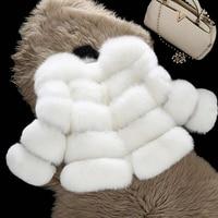 Mink Coats Women 2018 Winter New Fashion Pink FAUX Fur Coat Elegant Thick Warm Outerwear Fake Fur Jacket Chaquetas Mujer HN239