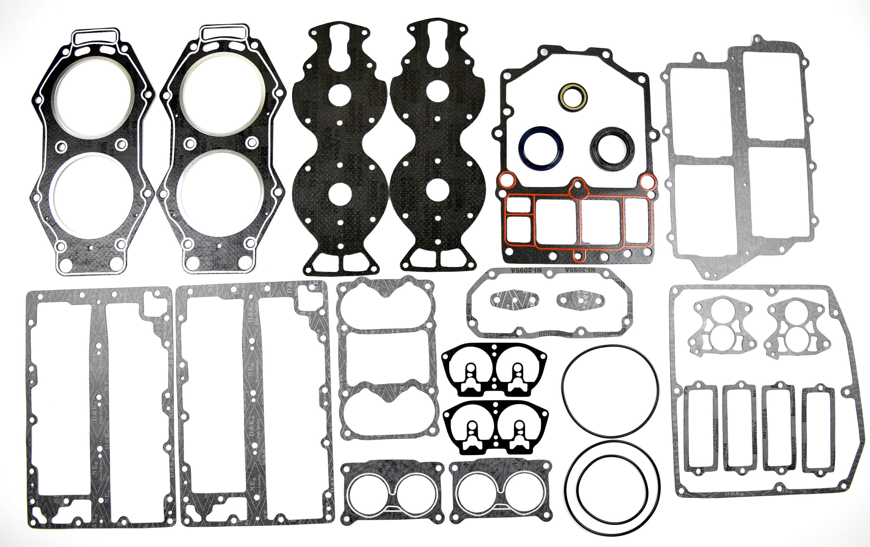 6E5 W0001 Power Head Gasket Kit For Yamaha 2T Outboard Motor V4 15 130HP 6E5 W0001