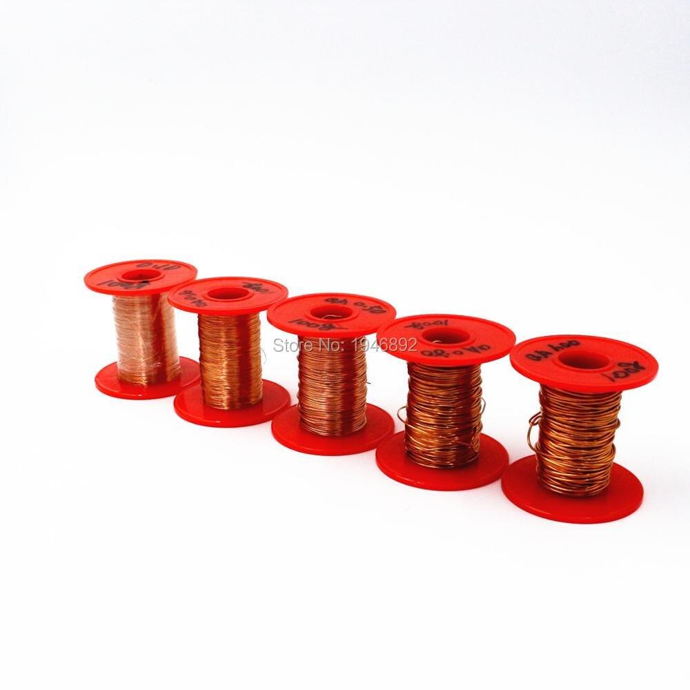 Neuheiten 0,3mm 100 gr/teile QA 1 155 Kupferdraht/Rot Emaillierten ...