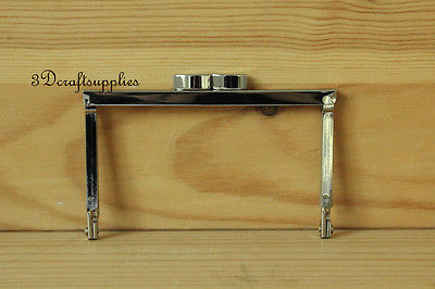 metal purse frame glue on clasp clip silver 4 inch X 2 1/2 inch C51 bag frame sewing purse frame metal frame silver 3 1 4 inch x 1 1 2 inch d78