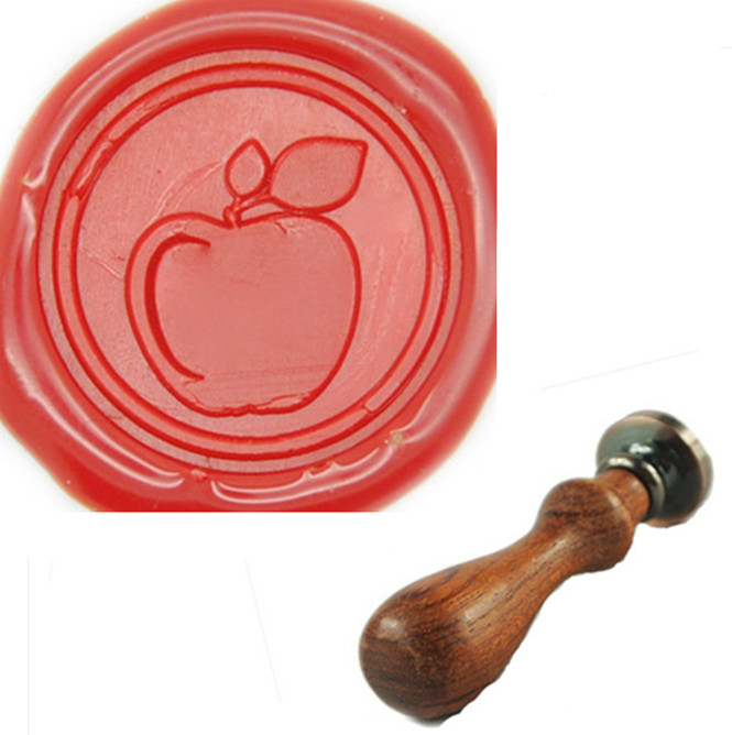 Personalized Name Customized Wax Seal Stamp, Personalized Wedding Invitation, Apple Wax Seal Stamp