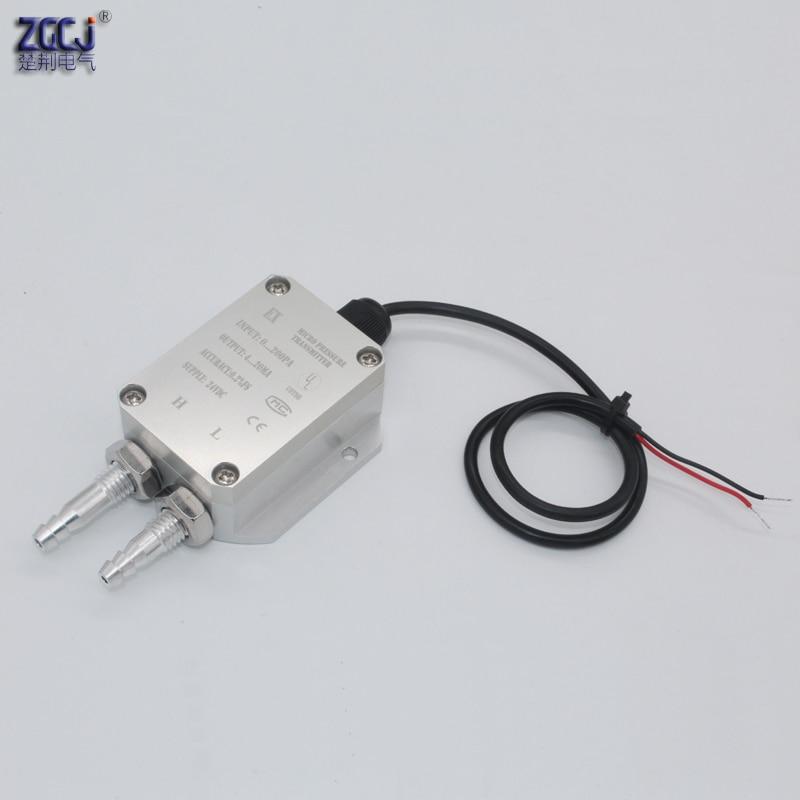 0-200Pa Pressure Difference Transmitter 4-20mA Pressure Tube Micro Pressure Differential Sensor Boiler Coal Mine Wind Pressure