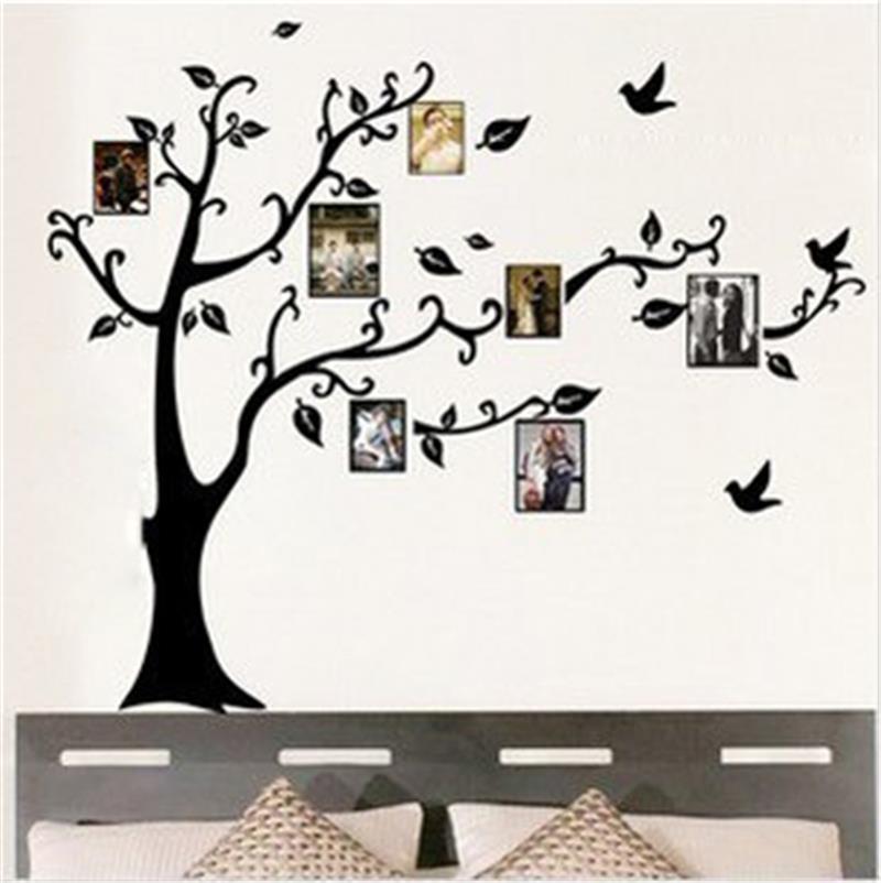 Wohnzimmer Bilderrahmen Dekoration Familie Baum Wandtattoo Aufkleber ...