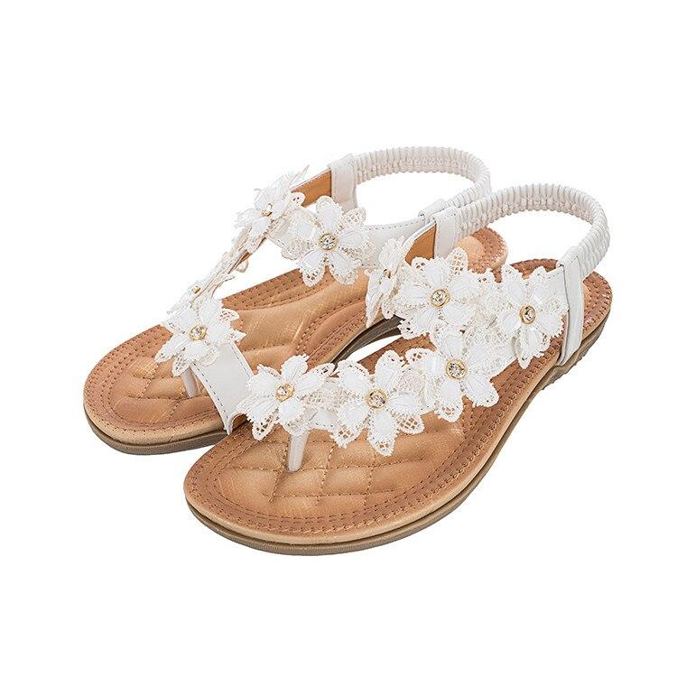 MLJUESE 2018 kvinnor sandaler sommar boximiya stil vit färg söta - Damskor - Foto 3