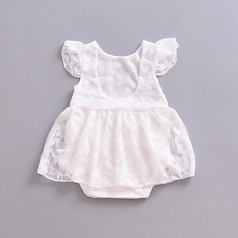 PaMaBa Baby Lace Summer Dresses Infant Toddler Jumpsuit Bebe Filles White Rompers Cotton Soft 0-2T Fashion Costume Party Robes