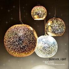 Классический дизайн СВЕТОДИОДНАЯ лампа подвесной светильник диаметр 20 см 3D красочные Гальваническим Стекло Зеркальный Шар подвесной светильник
