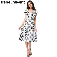 Irene Inevent Kawaii Dress Summer Women Cute 2017 Dot Dresses Mini A Line Party Dress Vestidos
