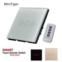 UK Standard Touch Dimmer Switch Dimmer 1 Gang White Glass Dimmer Switch Glass Touch Panel Dimmer