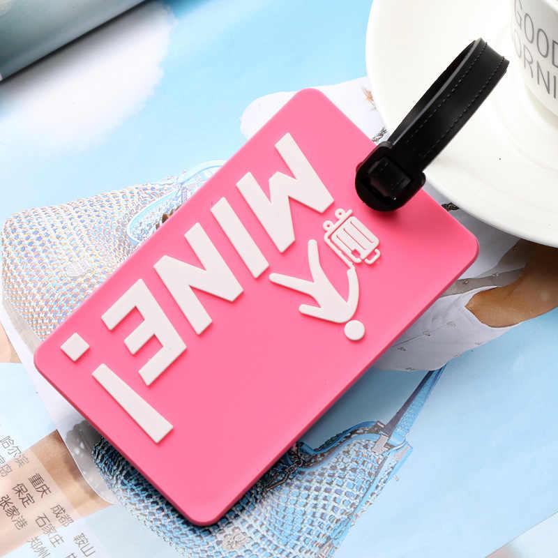 Neue Koffer Gepäck Tags Kennung Label ID Adresse Halter Umwelt Schutz Abdeckung Gepäck Tag Reise Zubehör