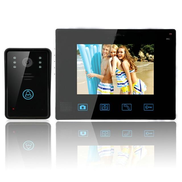 "Video Door Intercom Entry System 2.4G 9"" TFT Wireless Video Door Phone Doorbell Home Security Intercom Kit 1 Camera 1 Monitor"