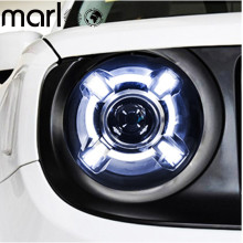 Marloo Pair For 2015 2016 2017 Jeep Renegade HID LED Headlight with DRL and Bi-xenon Projector