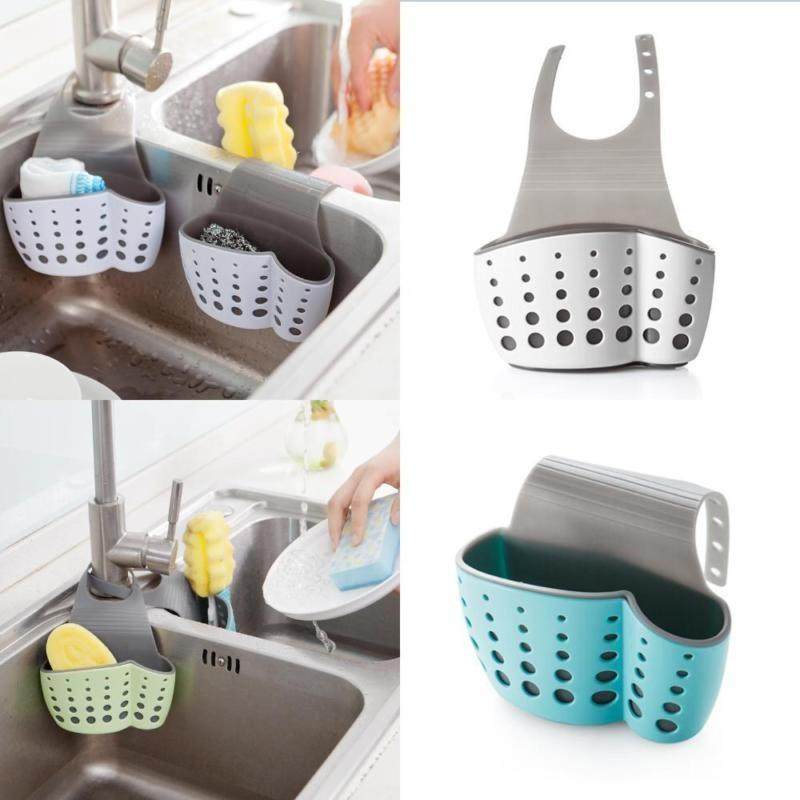 Dish Cloths Rack Suction Sponge Hanging Creative Kitchen Sink Shelving Bag Drain Holder Kitchen Organizer And Storage