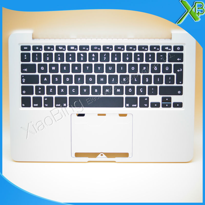 New TopCase with TR Turkish Turkey Keyboard for MacBook Pro Retina 13.3 A1502 2013-2014 years original a1502 topcase for macbook pro retina 13 a1502 topcase with keyboard uk version a1502 2013 2014
