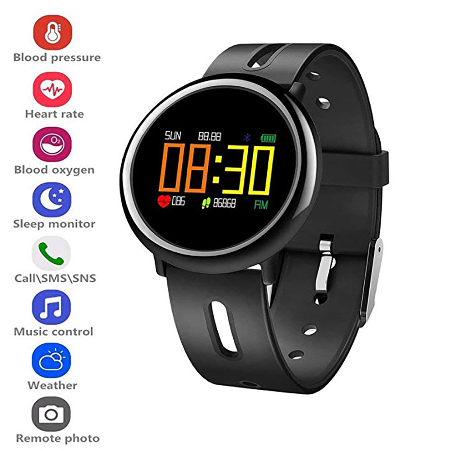 Color Screen Sport Watch Blood Oxygen Monitor Smart Watch Men Remote Camera Fitness Tracker for Android IOS Digital Wristwatches