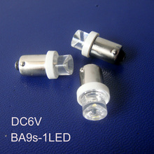 High quality ba9s 6.3v led bulbs,6v ba9s led instrument lights,ba9s 6.3v lamps ba9s LED indicating lamp free shipping 10pcs/lot