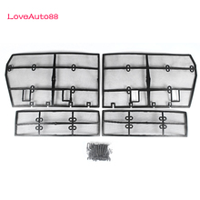 Car Insect Screening Mesh Front Grille Insert Net Accessories For Toyota Land Cruiser Prado 150  J150 LC150 FJ150 2018 2019